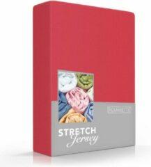 Zachte Jersey Hoeslaken Lits-Jumeaux Rood   160x200/220 + 180/190/200x200   Dikke Kwaliteit   Rondom Elastiek