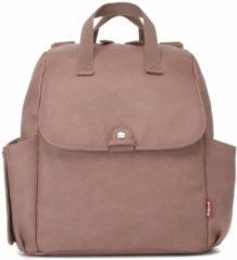 Roze Babymel Robyn Convertible Backpack faux leather dusty pink Luiertas