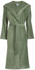 Vandyck badstof badjas met capuchon olijfgroen
