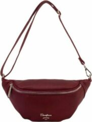 Bordeauxrode Crossbody tas - Heuptas David Jones Paris Donker Bordeaux 5314