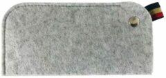 Licht-grijze Merkloos / Sans marque Brillenhoes / Brillenkoker / Brillenhouder | Vilt | Dames & Heren | Lichtgrijs