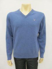 Gant superfine lambswool v neck stone blue 86212489, maat XXL