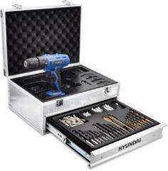 Hyundai Power Products Hyundai accuboormachine / boormachine 18V - inclusief 2 accu's - in aluminium koffer met 275 accessoires.