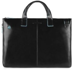 "Zwarte Piquadro Blue Square Expandable Slim Computer Bag 15.6"" black"