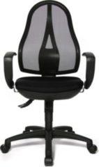 Topstar Bürodrehstuhl Open Point SY mit Armlehne, schwarz/schwarz