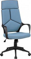 AMSTYLE Bürostuhl TECHLINE Stoffbezug Blau Schreibtischstuhl Design Chefsessel Drehstuhl mit Wippmechanik & Armlehne