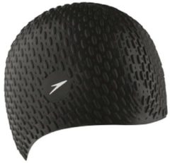 Zwarte Speedo Bubble Cap Badmuts Unisex - Black - Maat One Size