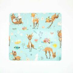 Blauwe Merkloos / Sans marque Muismat Hert Bambi 20 x 22 cm