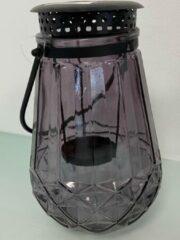 Home & Styling Kandelaar - waxinelichthouder - donkerpaars