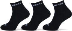 6-Pack O'Neill Quarter Sportieve Sportsokken Unisex 750003 Zwart - Maat 43-46