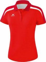 Erima Liga 2.0 polo Sportpolo Dames - Rood/Donkerrood/Wit