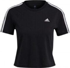 Adidas Ess. Loose Crop Shirt Dames - Zwart - maat XS