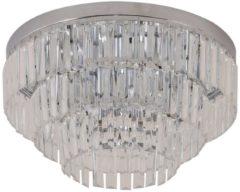 HOMCOM Deckenleuchte Kronleuchter Kristall 7-flammig Warmweiß 40W Deckenleuchte Hängelampe Hängeleuchte Leuchte
