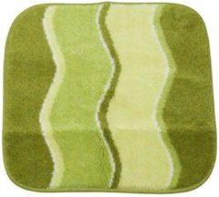 GRUND Badteppich grün wellig gestreift 55 x 60 cm