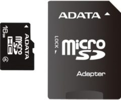 ADATA Technology Co ADATA Flash-Speicherkarte (microSDHC/SD-Adapter inbegriffen) AUSDH16GCL4-RA1