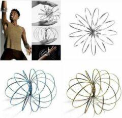 Zkuw Magic Metal Rings | RVS Flow Ring 3D | 3D Toroflux Flow Ring | Magische Armband | Nieuwe Rage | Kleur Zwart