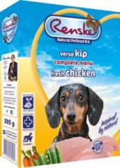 Renske Vers Kip en Rijst hondenvoer 1 tray (10 x 395 gram)