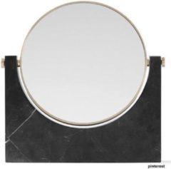 Verno.com Marble Mirror - Zwart - Marmeren Make-Up Spiegel - 26,5 x 26 cm