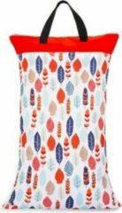 Kidzstore.eu Wetbag XL – veren | 70cm x 40cm | 2 vakken voor droge en natte spullen