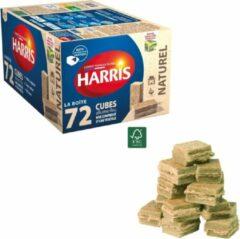 Harris Aanmaakblokjes Bruin - 72 Stuks in Handige Dispenser