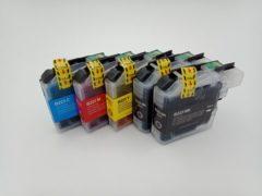 Cyane KATRIZ® huismerk inkt voor Brother 2x LC223XL BK + LC223XL C+ LC223XL M+ LC223XL Y (5stuks)