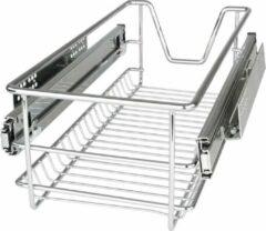 Zilveren Trend24 - Uitrekbare lades - Keuken - Slaapkamer - Badkamer - Ladekastjes - Opberglade - Set van 5 - Wit - 30 cm