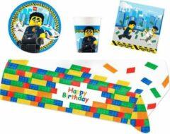 Lego City feestpakket | feestartikelen kinderfeest voor 8 kinderen