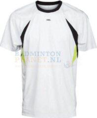 RSL T-shirt Badminton Tennis Wit/Geel maat XXL