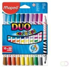 Bruna Viltstift Maped Colorpeps duo karton ophangdoos 10stuks