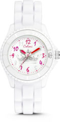 Colori Kidz 5 CLK010 Kinderhorloge met Kroon - Siliconen Band - Ø 30 mm - Wit