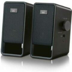 Zwarte Ewent EW3504 - Luidsprekers - voor PC - 6 Watt (Totaal)