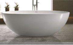 Vrijstaand Bad Luca Sanitair Vasca 180x80x60cm Solid Surface Mat Wit