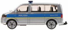 Grijze Siku Duitse politiebus Volkswagen Transporter grijs (1350)
