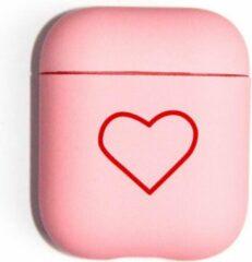 Roze Landlit Sweet Heart - AirPods Case - Pink - AirPods 1 en 2