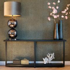 Richmond Interiors Richmond Sidetable 'Oakura' Eikenhout en Staal, kleur Zwart, 180cm