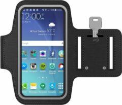 MMOBIEL Sport / Hardloop Armband - voor Samsung – Ook Geschikt voor iPhone, Huawei, Xiaomi etc. - spatwatervrij - Lengte 160 mm & Breedte 80 mm - Zwart