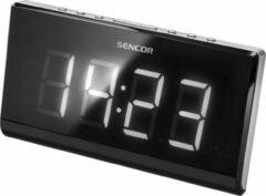 Zilveren Sencor SRC 340 radio Klok Digitaal Zwart