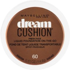 Donkerbruine Maybelline Liquid Foundation Dream Cushion On-The-Go 60 Cocoa