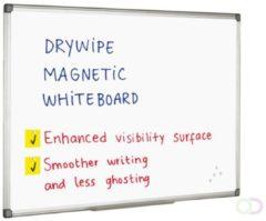 Smit Visual Whitebord 90x120 cm Softline profiel 8mm, gelakt staal wit