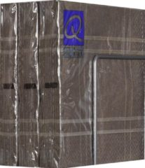 Merkloos / Sans marque Servetten - Papier - Set van zes pakjes - 6 x 20 stuks - Vierkant Donkergrijs - 33cm x 33cm