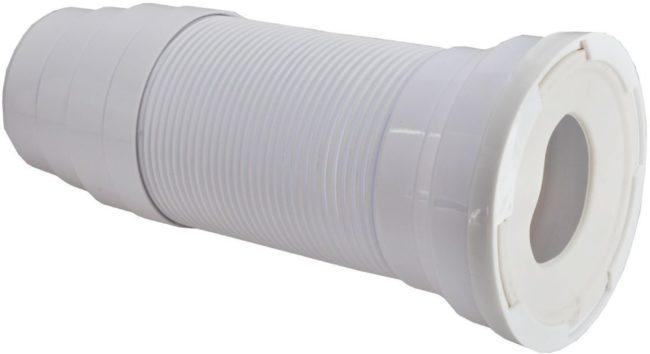 Afbeelding van Wisa closetafvoermanchet univ Flexifon, kunststof wit, 110/110mm