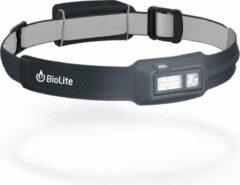 Grijze BioLite HeadLamp 330 Lumen Midnight Grey Oplaadbare LED Hoofdlamp