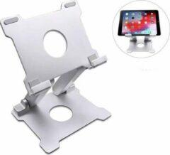 Grijze Stanz Professionele laptop standaard incl. 3 Gratis Webcam Covers - Ideaal voor Thuiswerken - Tablet / Laptop / Macbook - Bureau - Ergonomisch