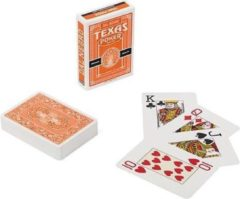 Dal Negro speelkaarten Texas 8,9 cm PVC oranje 55-delig