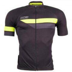 Grijze Bioracer - Bioracer Team S/S Jersey Bodyfit 2.0 - Fietsshirt maat S zwart/grijs