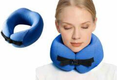 Pocket Pillow PocketPillow Opvouwbaar nekkussen met Meeneem Case - Blauw