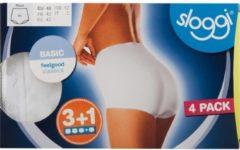Zwarte Sloggi Basic Maxi Dames Slip - (4-pack) - Zwart - Maat 38