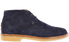 Blue Tod's Polacchine stivaletti scarpe bambino camoscio