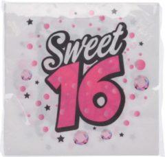Tom Servetten Sweet 16 33 X 33 Cm Papier Roze 16 Stuks