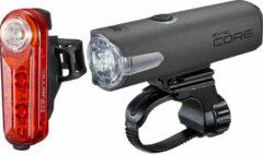 Zwarte Cateye Sync Set Core & Kinetic Front & Rear Set - Fietslampen (setjes)